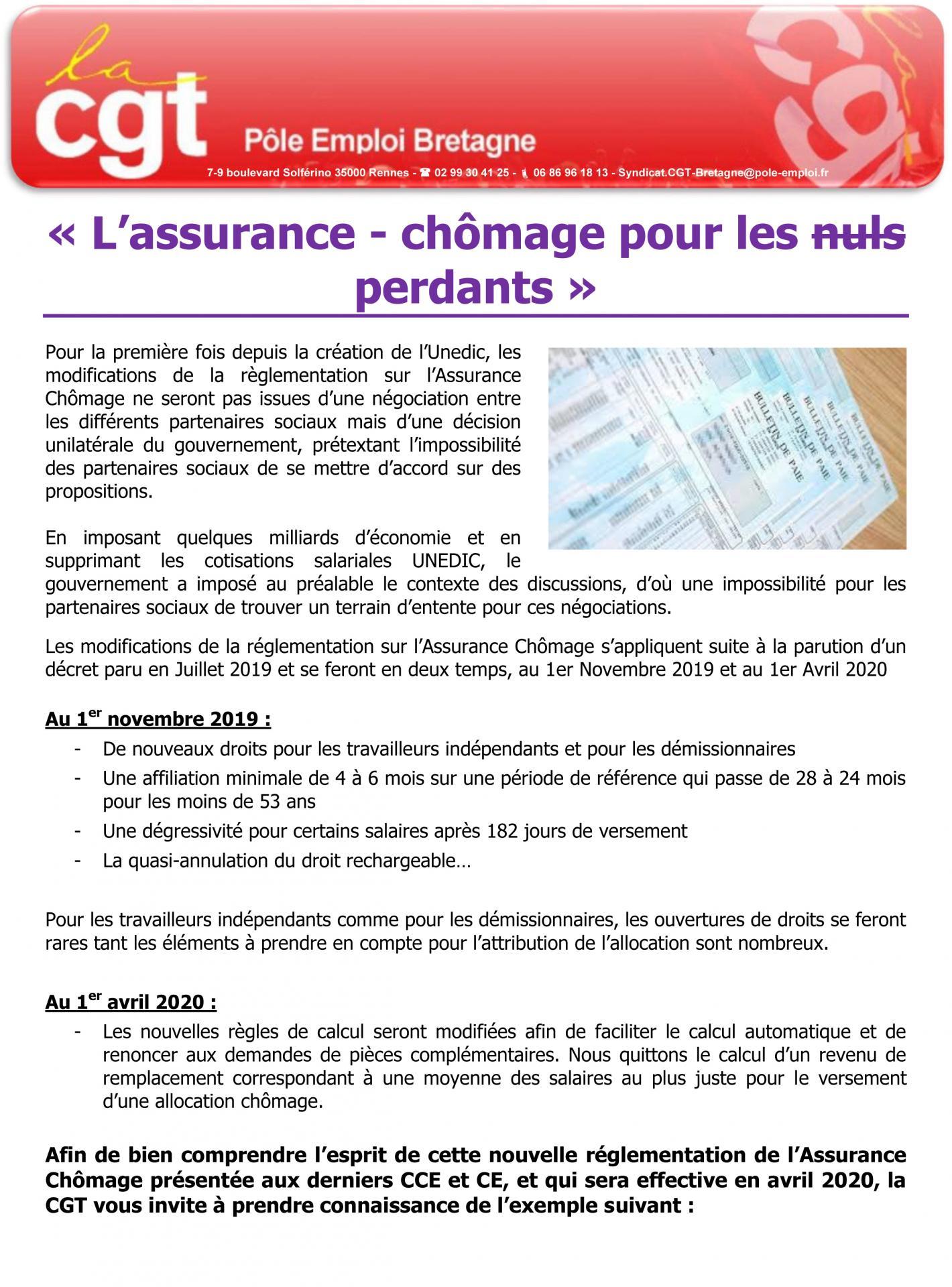 2019 09 30 cgt assurance chomage 1